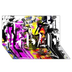 Abstract City View #1 Dad 3d Greeting Card (8x4)