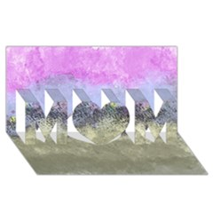 Abstract Garden In Pastel Colors Mom 3d Greeting Card (8x4)  by digitaldivadesigns