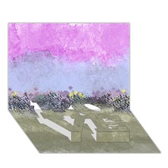 Abstract Garden In Pastel Colors Love Bottom 3d Greeting Card (7x5)  by theunrulyartist