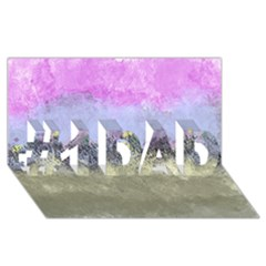 Abstract Garden In Pastel Colors #1 Dad 3d Greeting Card (8x4)
