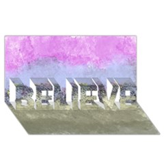 Abstract Garden In Pastel Colors Believe 3d Greeting Card (8x4)