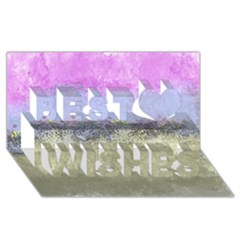 Abstract Garden In Pastel Colors Best Wish 3d Greeting Card (8x4)