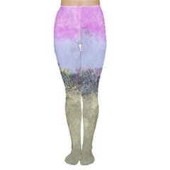 Abstract Garden In Pastel Colors Women s Tights by digitaldivadesigns