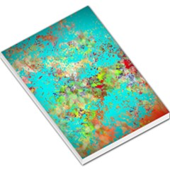 Abstract Garden In Aqua Large Memo Pads