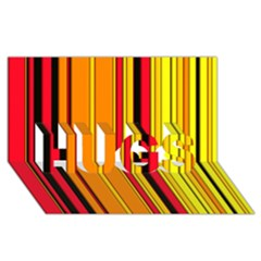 Hot Stripes Fire Hugs 3d Greeting Card (8x4)