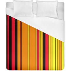 Hot Stripes Fire Duvet Cover Single Side (Double Size) by ImpressiveMoments