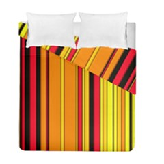 Hot Stripes Fire Duvet Cover (Twin Size) by ImpressiveMoments