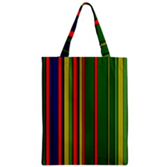 Hot Stripes Grenn Blue Zipper Classic Tote Bags by ImpressiveMoments