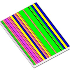 Hot Stripes Rainbow Large Memo Pads