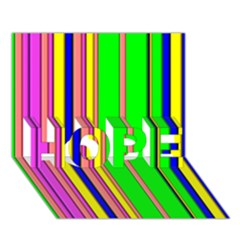 Hot Stripes Rainbow Hope 3d Greeting Card (7x5)
