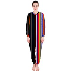 Hot Stripes Red Blue Onepiece Jumpsuit (ladies)