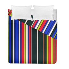 Hot Stripes Red Blue Duvet Cover (twin Size) by ImpressiveMoments