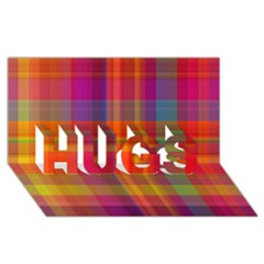 Plaid, Hot Hugs 3d Greeting Card (8x4)  by ImpressiveMoments