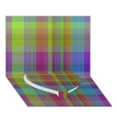 Plaid, Cool Heart Bottom 3d Greeting Card (7x5)