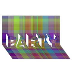 Plaid, Cool Party 3d Greeting Card (8x4)