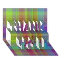 Plaid, Cool Thank You 3d Greeting Card (7x5)