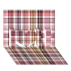 Plaid, Candy I Love You 3d Greeting Card (7x5)
