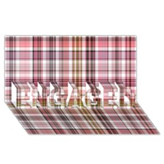 Plaid, Candy Engaged 3d Greeting Card (8x4)  by ImpressiveMoments