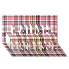 Plaid, Candy Laugh Live Love 3d Greeting Card (8x4)