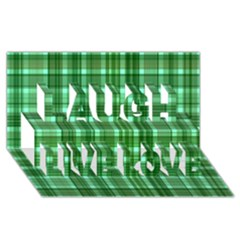 Plaid Forest Laugh Live Love 3d Greeting Card (8x4)
