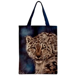 Snow Leopard Classic Tote Bags by ArtByThree