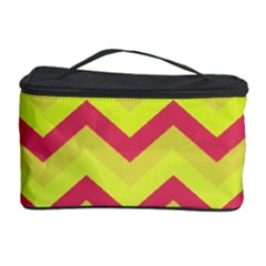 Chevron Yellow Pink Cosmetic Storage Cases by ImpressiveMoments