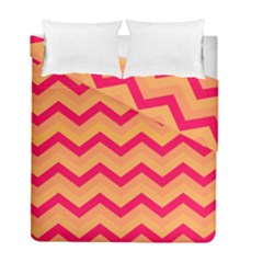 Chevron Peach Duvet Cover (twin Size) by ImpressiveMoments