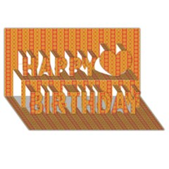Cute Seamless Tile Pattern Gifts Happy Birthday 3d Greeting Card (8x4)  by creativemom