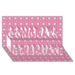 Cute Seamless Tile Pattern Gifts Congrats Graduate 3d Greeting Card (8x4)
