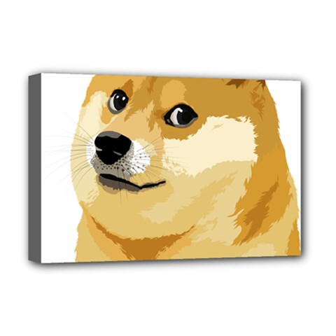 Dogecoin Deluxe Canvas 18  X 12   by dogestore