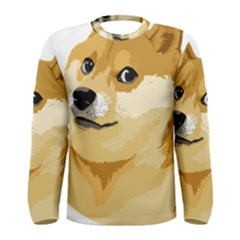 Dogecoin Men s Long Sleeve T Shirts by dogestore