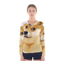 Dogecoin Women s Long Sleeve T Shirts by dogestore