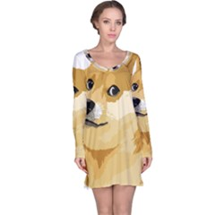 Dogecoin Long Sleeve Nightdresses by dogestore