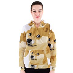 Dogecoin Women s Zipper Hoodies by dogestore