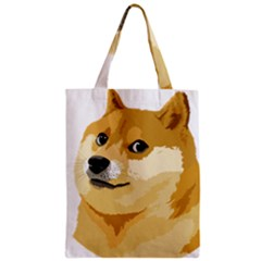 Dogecoin Zipper Classic Tote Bags by dogestore
