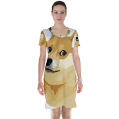 Dogecoin Short Sleeve Nightdresses by dogestore