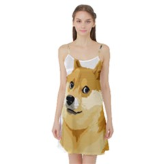 Dogecoin Satin Night Slip by dogestore