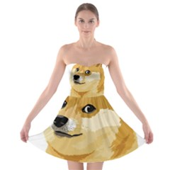 Dogecoin Strapless Bra Top Dress by dogestore