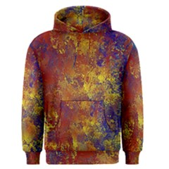 Abstract In Gold, Blue, And Red Men s Pullover Hoodies by theunrulyartist