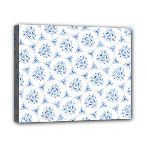 Sweet Doodle Pattern Blue Canvas 10  x 8  by ImpressiveMoments