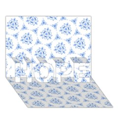Sweet Doodle Pattern Blue Hope 3d Greeting Card (7x5)