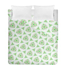 Sweet Doodle Pattern Green Duvet Cover (twin Size) by ImpressiveMoments
