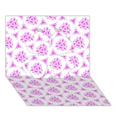 Sweet Doodle Pattern Pink Clover 3d Greeting Card (7x5)  by ImpressiveMoments