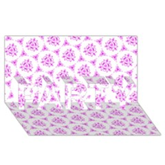 Sweet Doodle Pattern Pink Party 3d Greeting Card (8x4)  by ImpressiveMoments