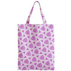 Sweet Doodle Pattern Pink Zipper Classic Tote Bags by ImpressiveMoments