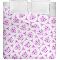 Sweet Doodle Pattern Pink Duvet Cover (King Size) by ImpressiveMoments