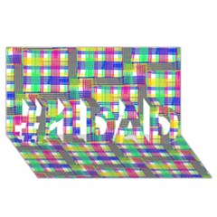 Doodle Pattern Freedom  #1 Dad 3d Greeting Card (8x4)