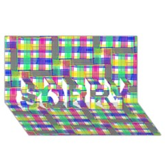 Doodle Pattern Freedom  Sorry 3d Greeting Card (8x4)  by ImpressiveMoments