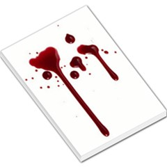 Blood Splatter 4 Large Memo Pads by TailWags