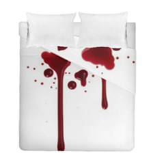 Blood Splatter 4 Duvet Cover (Twin Size) by TailWags
